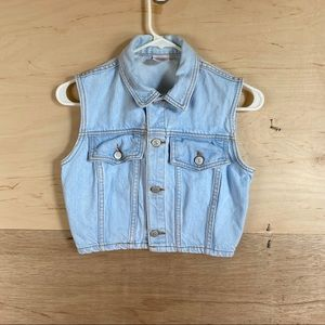 Vintage 80's Bongo Cropped Jean Jacket